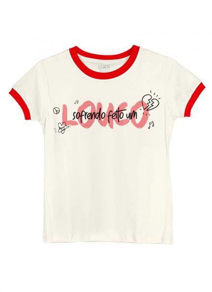 Camiseta Ringer Feminina Luan Santana Louco