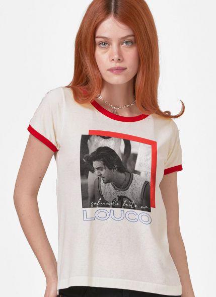Camiseta Ringer Feminina Luan Santana Sofrendo feito um Louco Foto