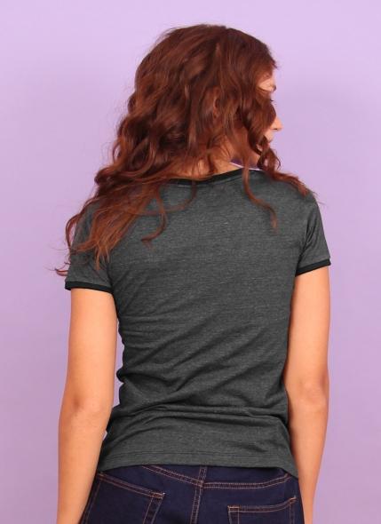 Camiseta Ringer Feminina Luan Santana Sorria