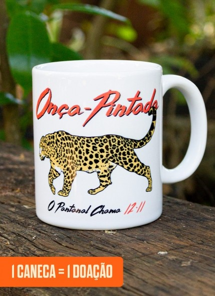 Caneca Luan Santana O Pantanal Chama <b>Onça-Pintada</b>