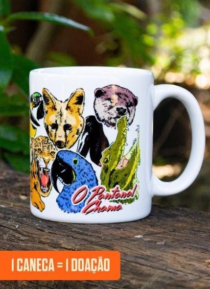 Caneca O Pantanal Chama <b>Animais</b>