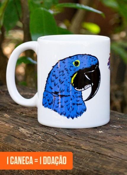 Caneca O Pantanal Chama <b>Arara Azul</b>
