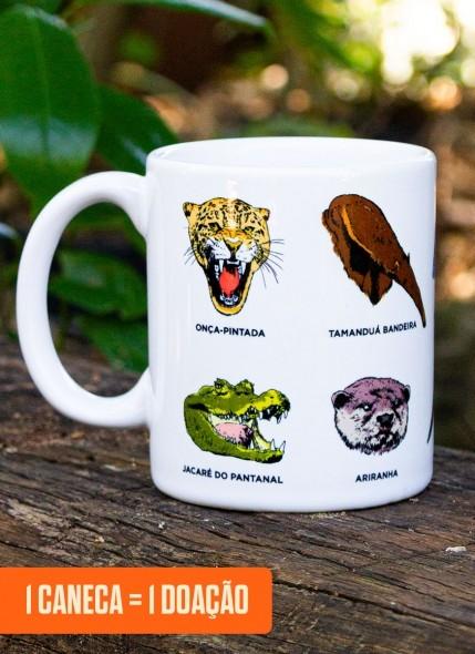 Caneca O Pantanal Chama <b>Diversidade Animal</b>