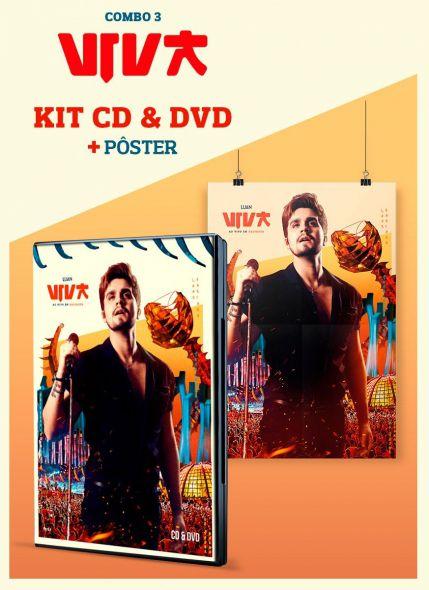 Combo Luan Santana Viva CD & DVD + Pôster
