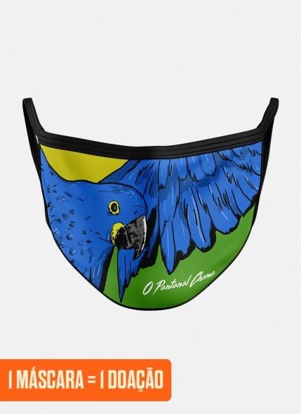 Máscara O Pantanal Chama <b>Arara Azul</b>