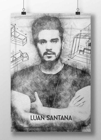 Pôster Luan Santana A Caixa