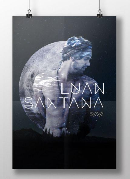 Pôster Luan Santana A Lua Até Beijou o Mar