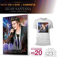 Combo Masculino Luan Santana – Kit CD/DVD O Nosso Tempo é Hoje + Camiseta