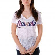 Camiseta Devorê Feminina Luan Santana Luanete Type
