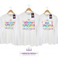 Camiseta Masculina de Manga Longa Luan Santana Tudo Que Você Quiser
