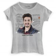 Camiseta Feminina Luan Santana Cantada Lyrics