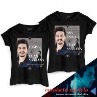Camiseta Feminina Luan Santana Cantada Personalizada