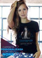 Camiseta Feminina Luan Santana Estalo Personalizada