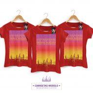 Camiseta Feminina Luan Santana - Letra Sobrenome