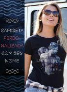 Camiseta Feminina Luan Santana Os Quatro Perdidos de Amor