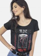 Camiseta Feminina Luan Santana Rosa Cyber
