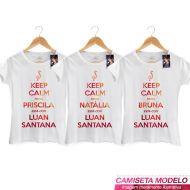 Camiseta Feminina Luan Santana - Você Está Com Luan Santana