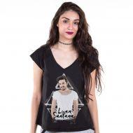 Camiseta Gola V Feminina Luan Santana Picture