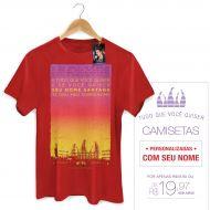 Camiseta Masculina Luan Santana - Letra Sobrenome