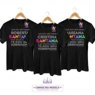Camiseta Masculina Luan Santana - Te Dou Meu Sobrenome