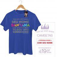 Camiseta Masculina Luan Santana - Te Dou Meu Sobrenome 2