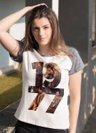 Camiseta Raglan Feminina Luan Santana 1977 Date
