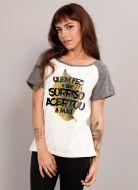 Camiseta Raglan Feminina Luan Santana Quem Fez o Seu Sorriso