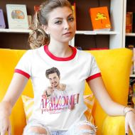 Camiseta Ringer Feminina Luan Santana Me Apaixonei Perdidamente