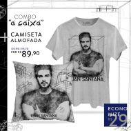 Combo Luan Santana A CAIXA Camiseta Masculina + Almofada