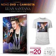 Combo Masculino Luan Santana - DVD O Nosso Tempo é Hoje + Camiseta