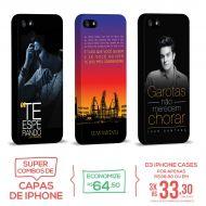 Kit Com 3 Capas de iPhone 5/5S Luan Santana - Concept