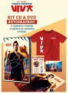 Pré-Venda Combo Premium AUTOGRAFADO Luan Santana Viva CD+DVD + Camiseta Infantil + Pôster + Cartela de Adesivos + Cartão Postal