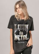 T-shirt Feminina Marmorizada Luan do Metal Keep Rocking