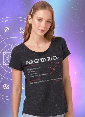 Camiseta Feminina Luan Santana Signo Sagitário