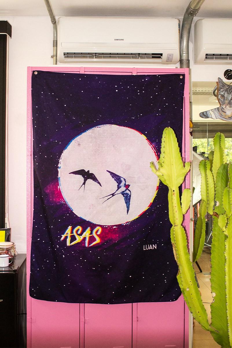 Bandeira de Parede Luan Santana Asas