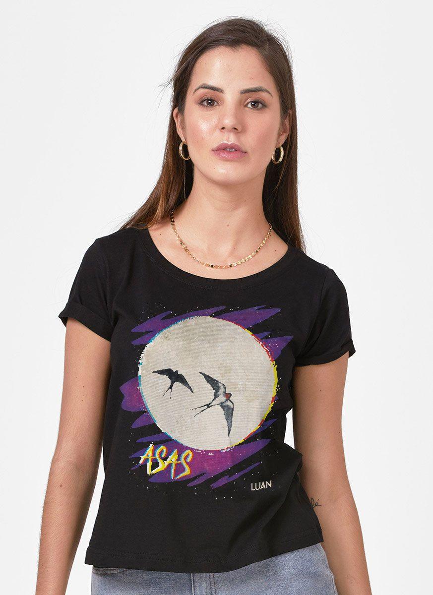 Camiseta Feminina Luan Santana Asas