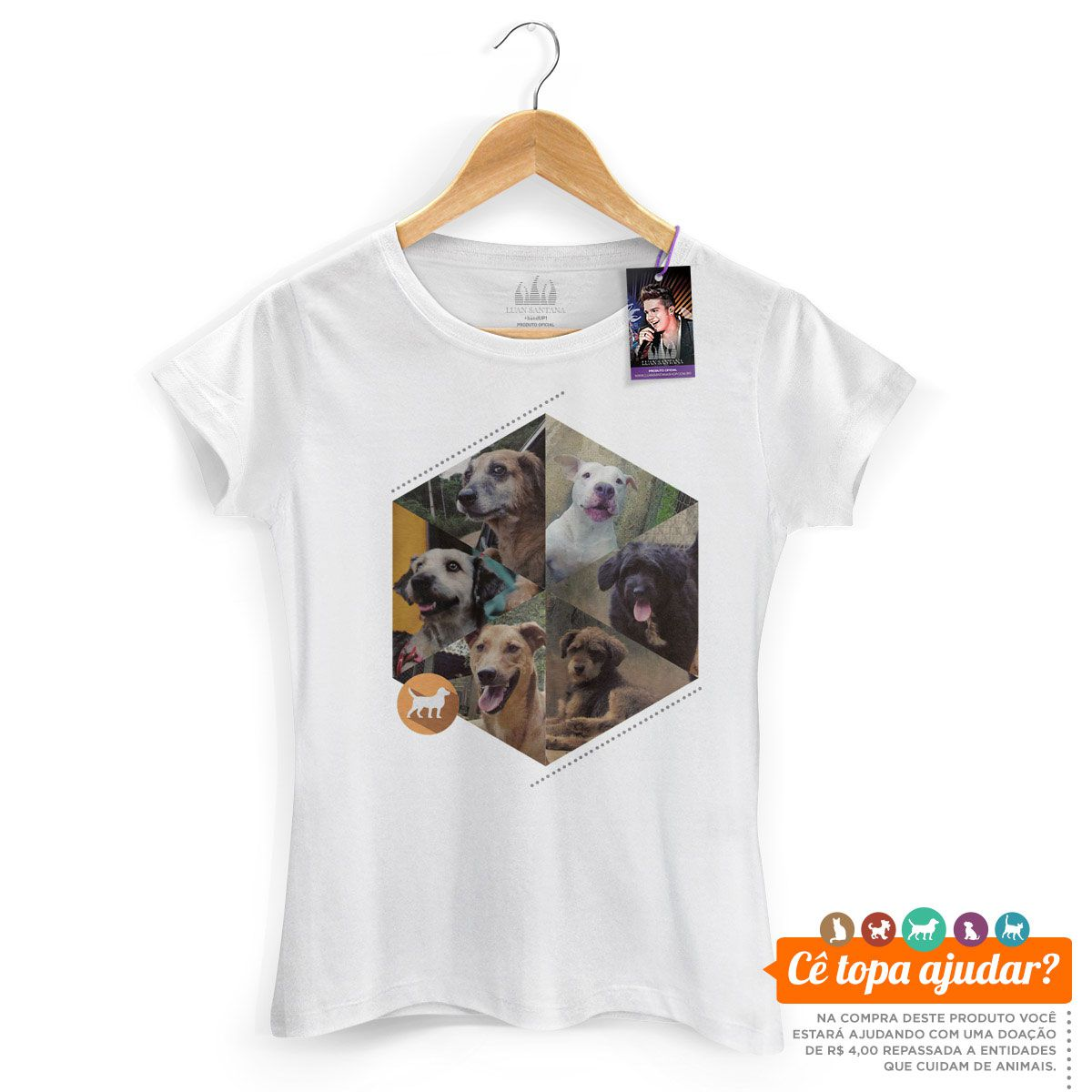 Camiseta Feminina Luan Santana Cê Topa Cuidar da Gente?