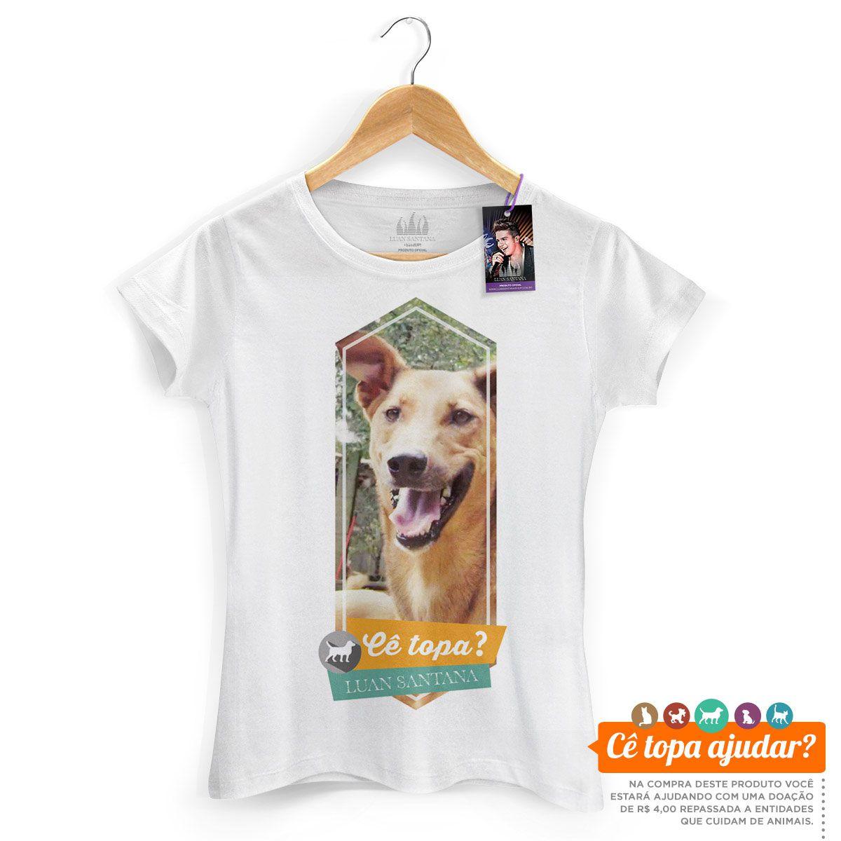 Camiseta Feminina Luan Santana Cê Topa Um Pastor?