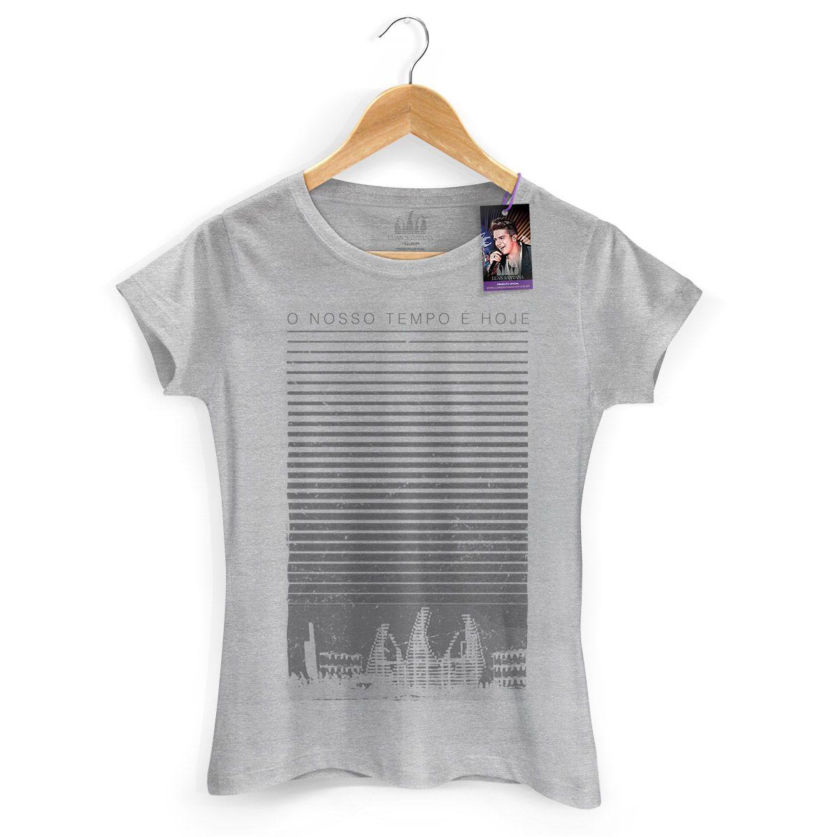 Camiseta Feminina Luan Santana - Concept Grey