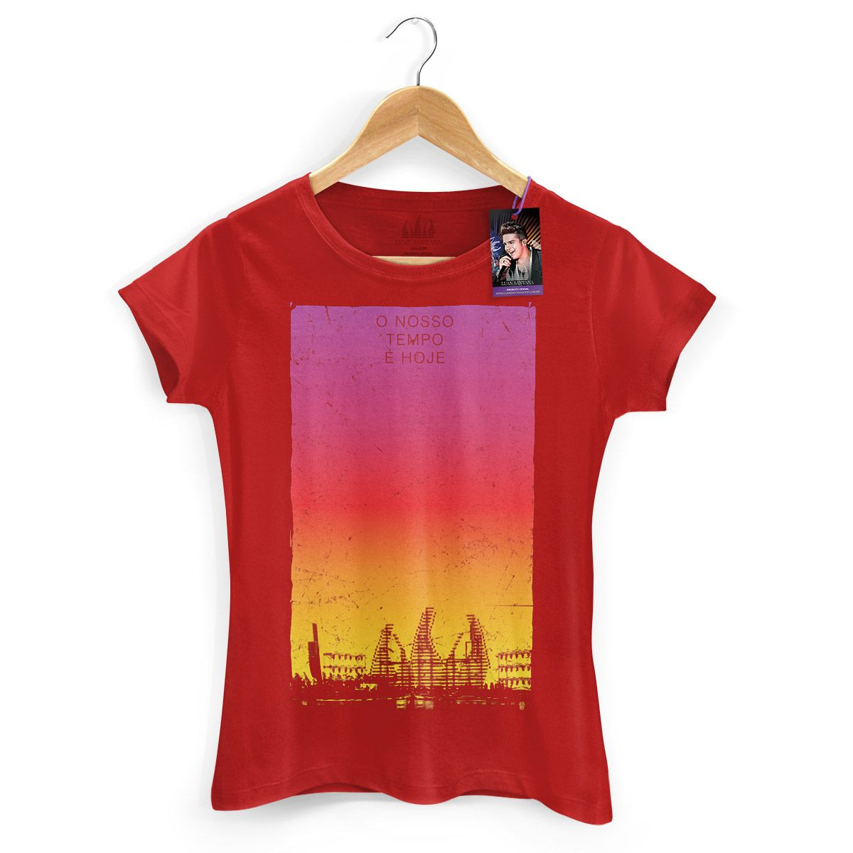 Camiseta Feminina Luan Santana - Concept Red