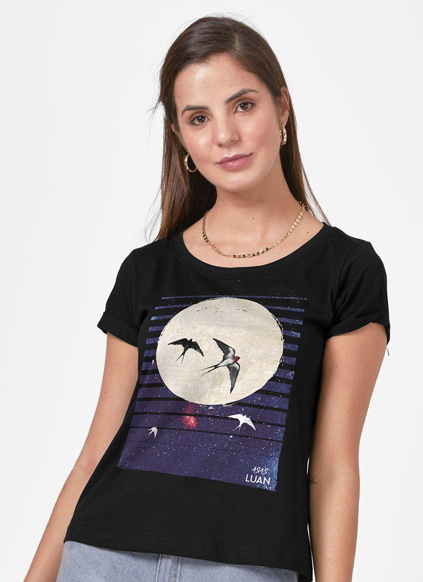 Camiseta Feminina Luan Santana É Como se Morasse um Céu