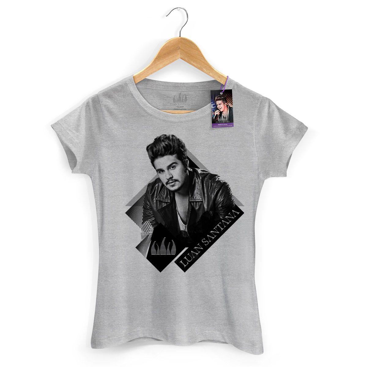Camiseta Feminina Luan Santana Foto P&B