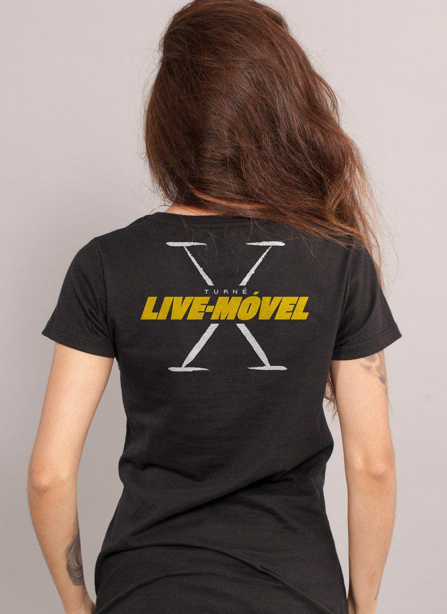 Camiseta Feminina Luan Santana Live-Móvel X