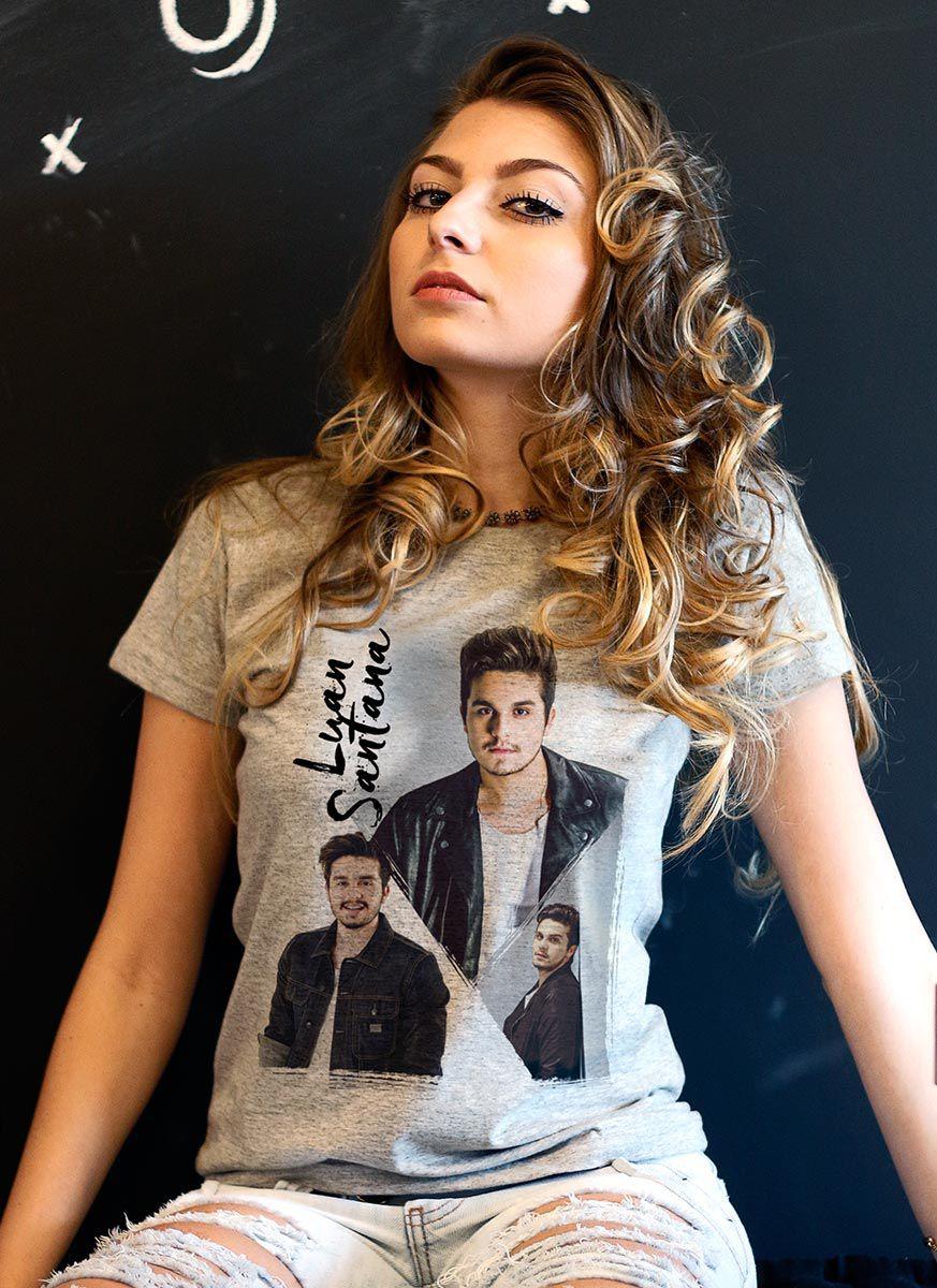 Camiseta Feminina Luan Santana Poses