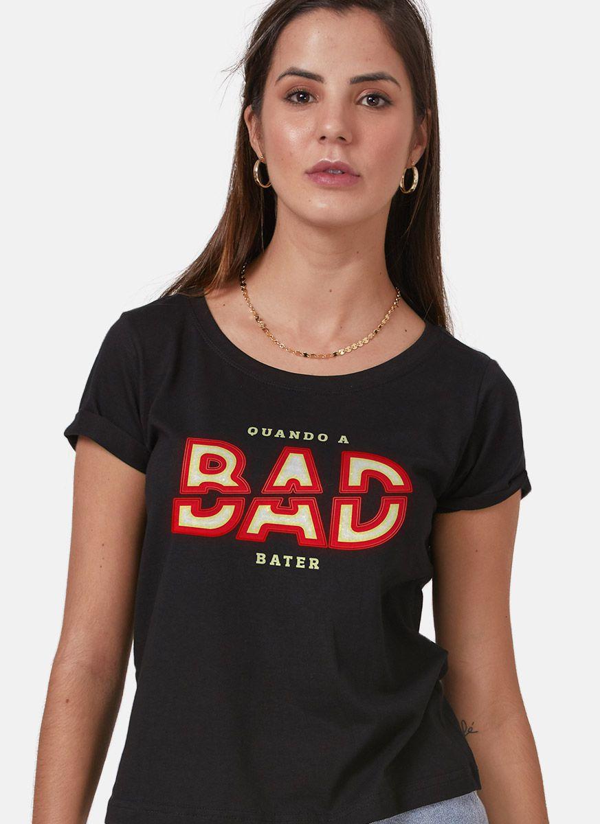 Camiseta Feminina Luan Santana Quando a Bad Bater