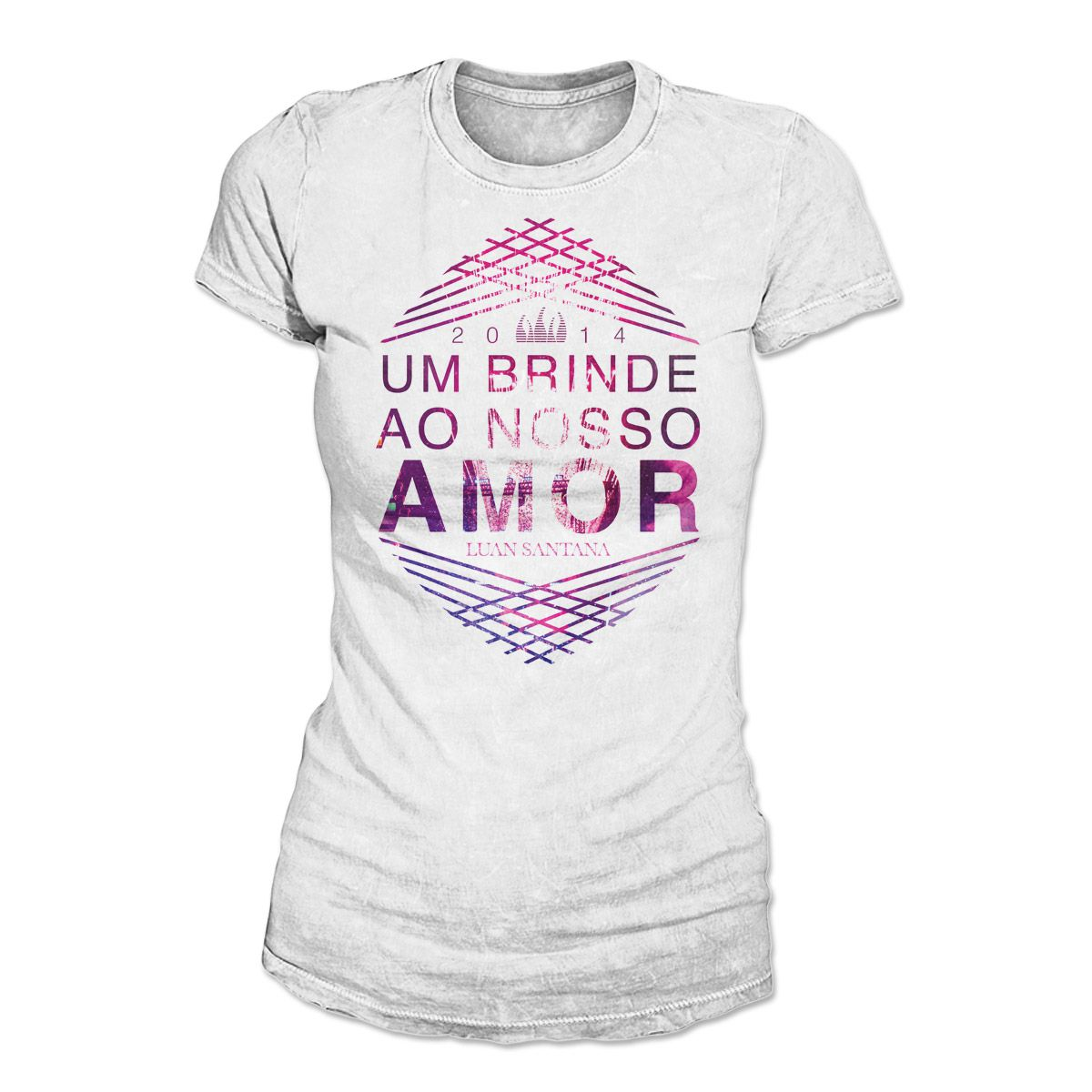 Camiseta Feminina Luan Santana - Um Brinde Ao Nosso Amor 2