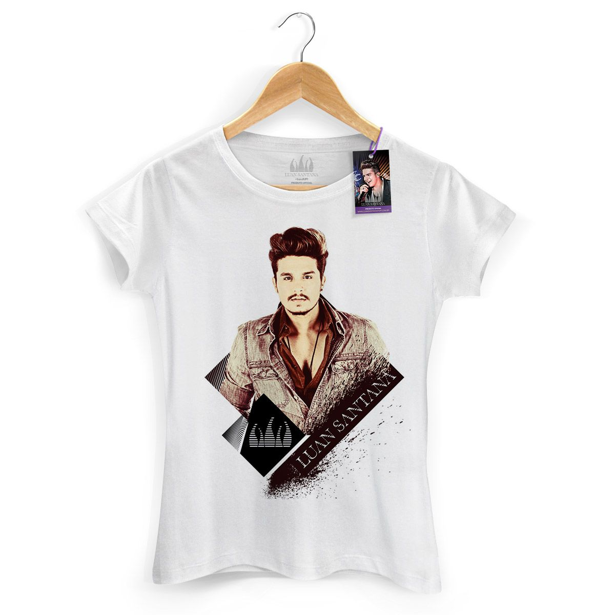 Camiseta Feminina Luan Santana Vintage
