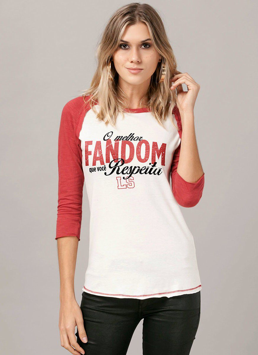 Camiseta Manga Longa Feminina Luan Santana O Melhor Fandom