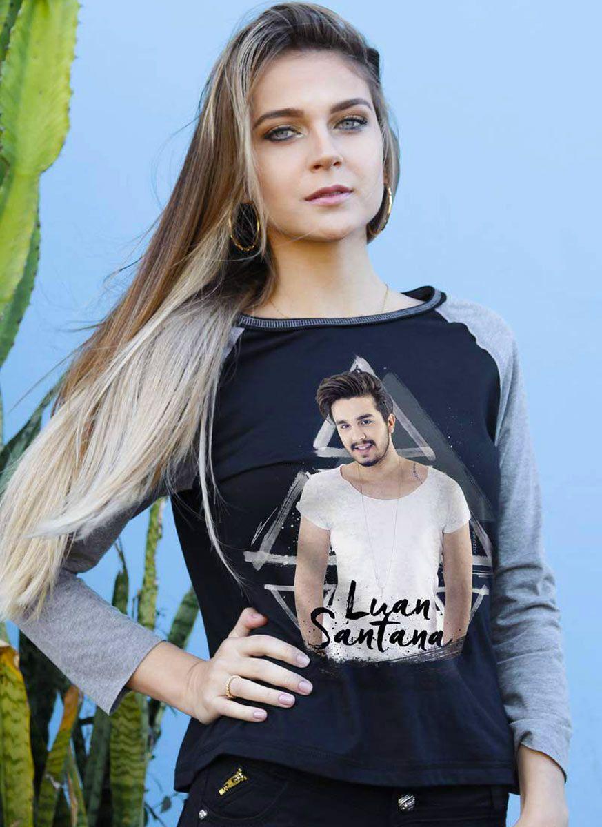 Camiseta Manga Longa Feminina Luan Santana Picture