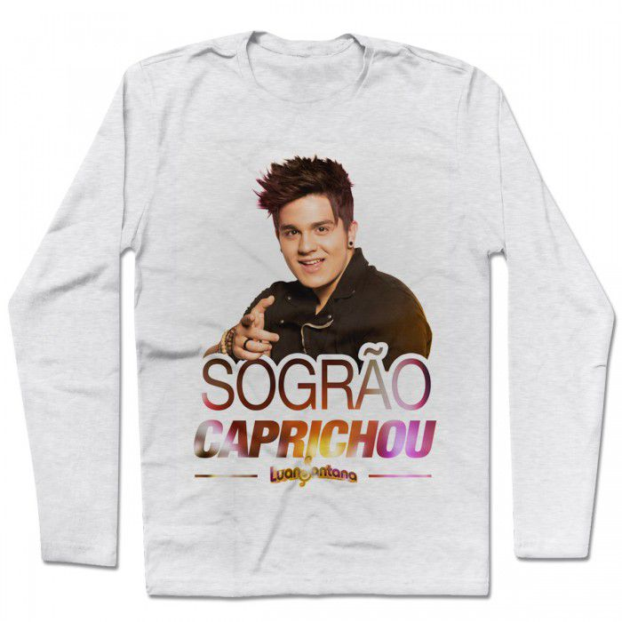 Camiseta Manga Longa Luan Santana - Sogrão Caprichou
